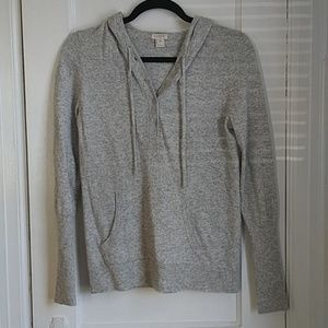 J Crew Grey Sweater Knit Hoodie